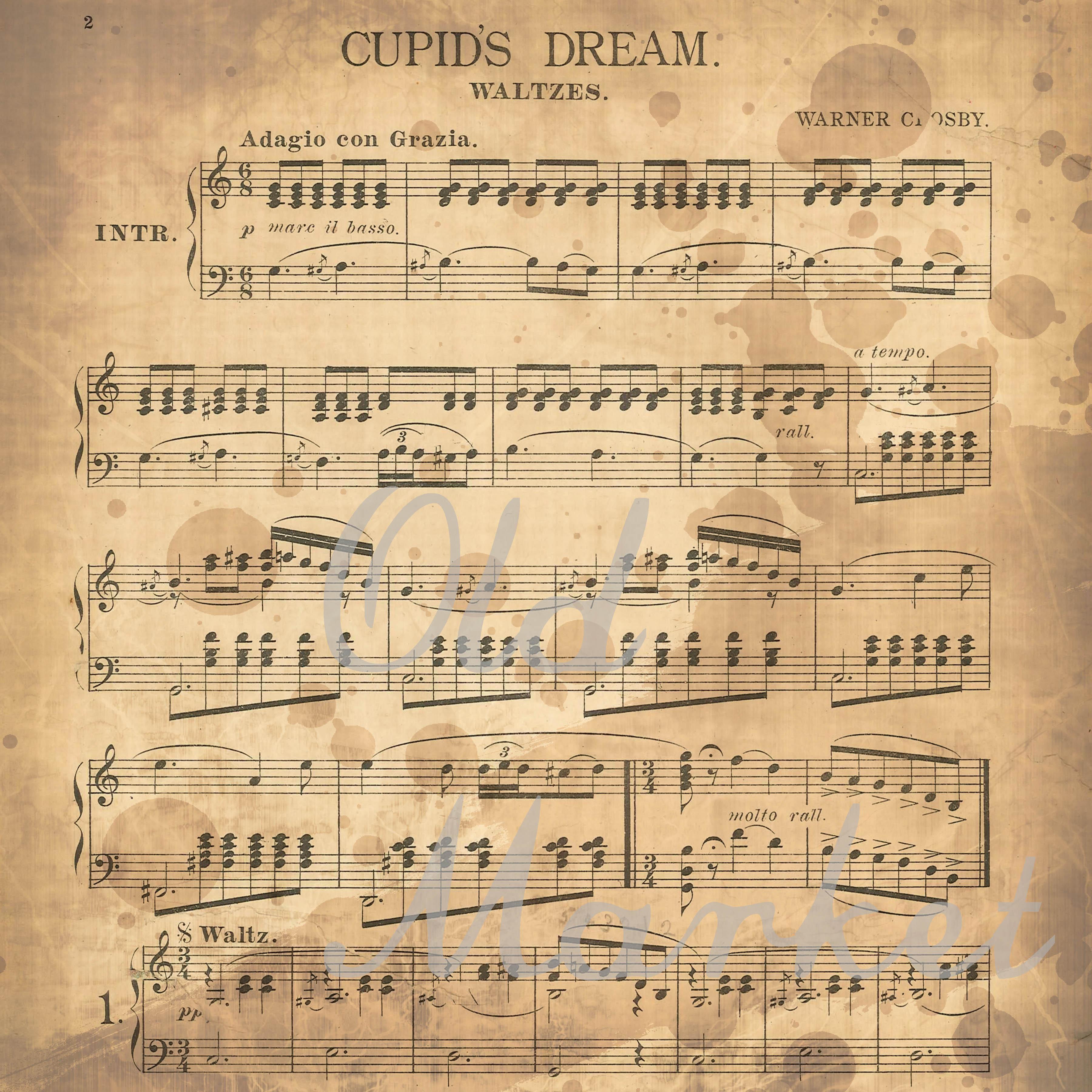 Antique Music Digital Paper example image 3
