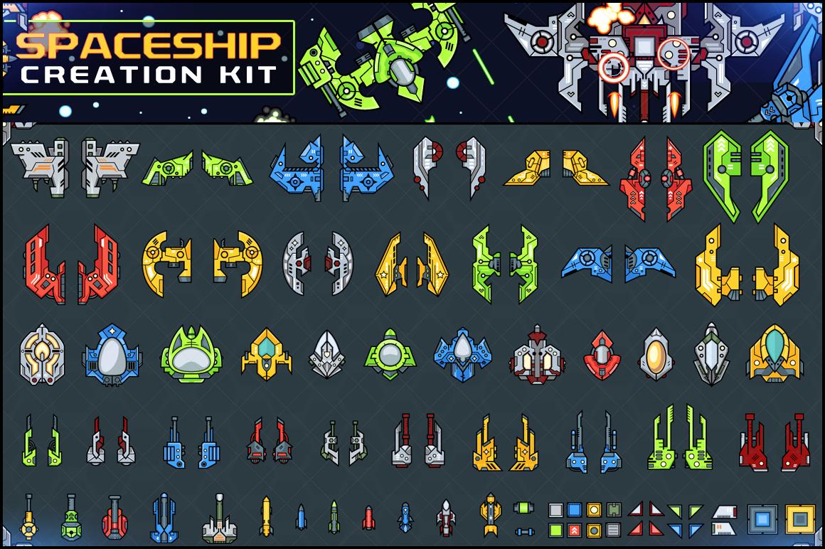 Spaceship Creation Kit - Game Assets example image 1