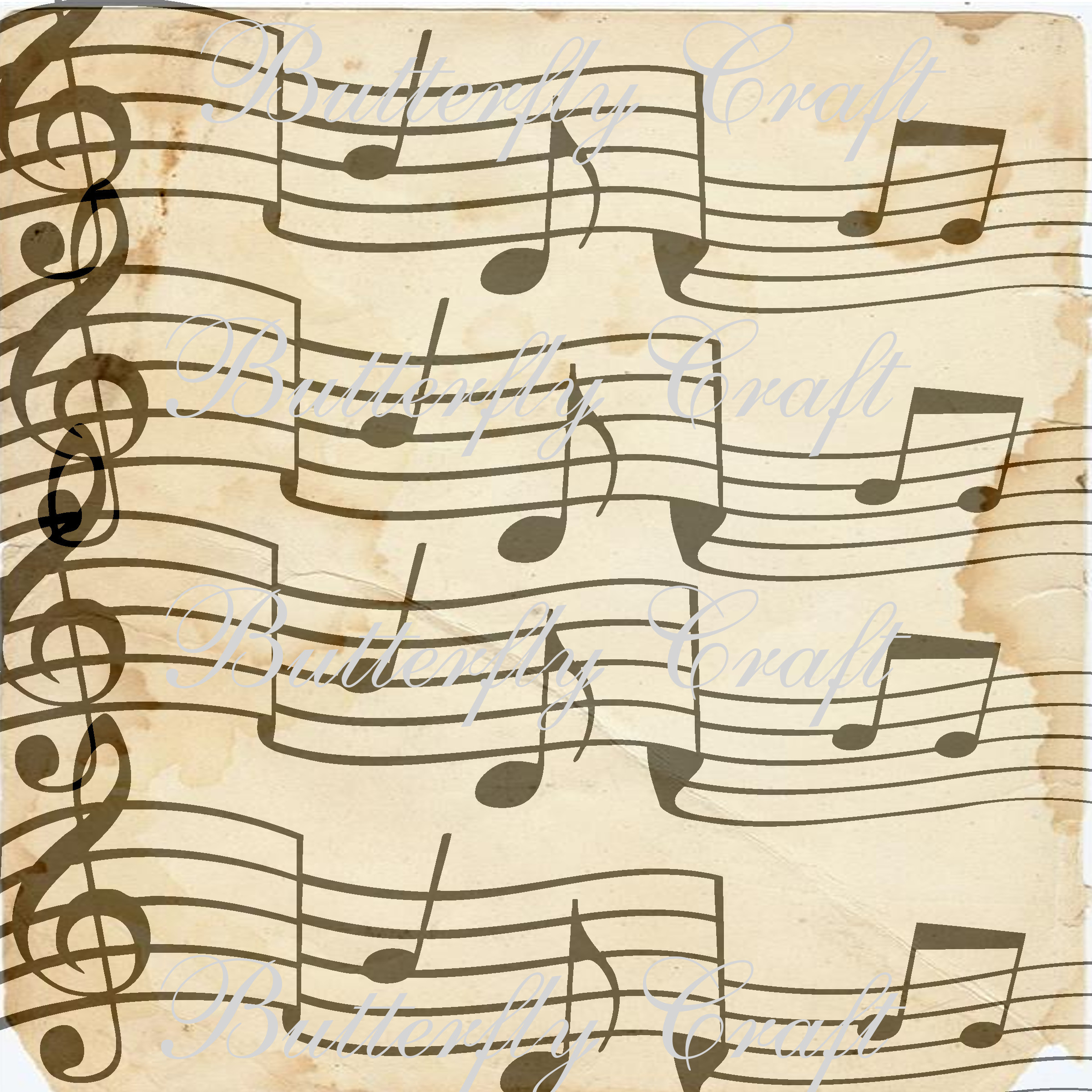 paper with music notes