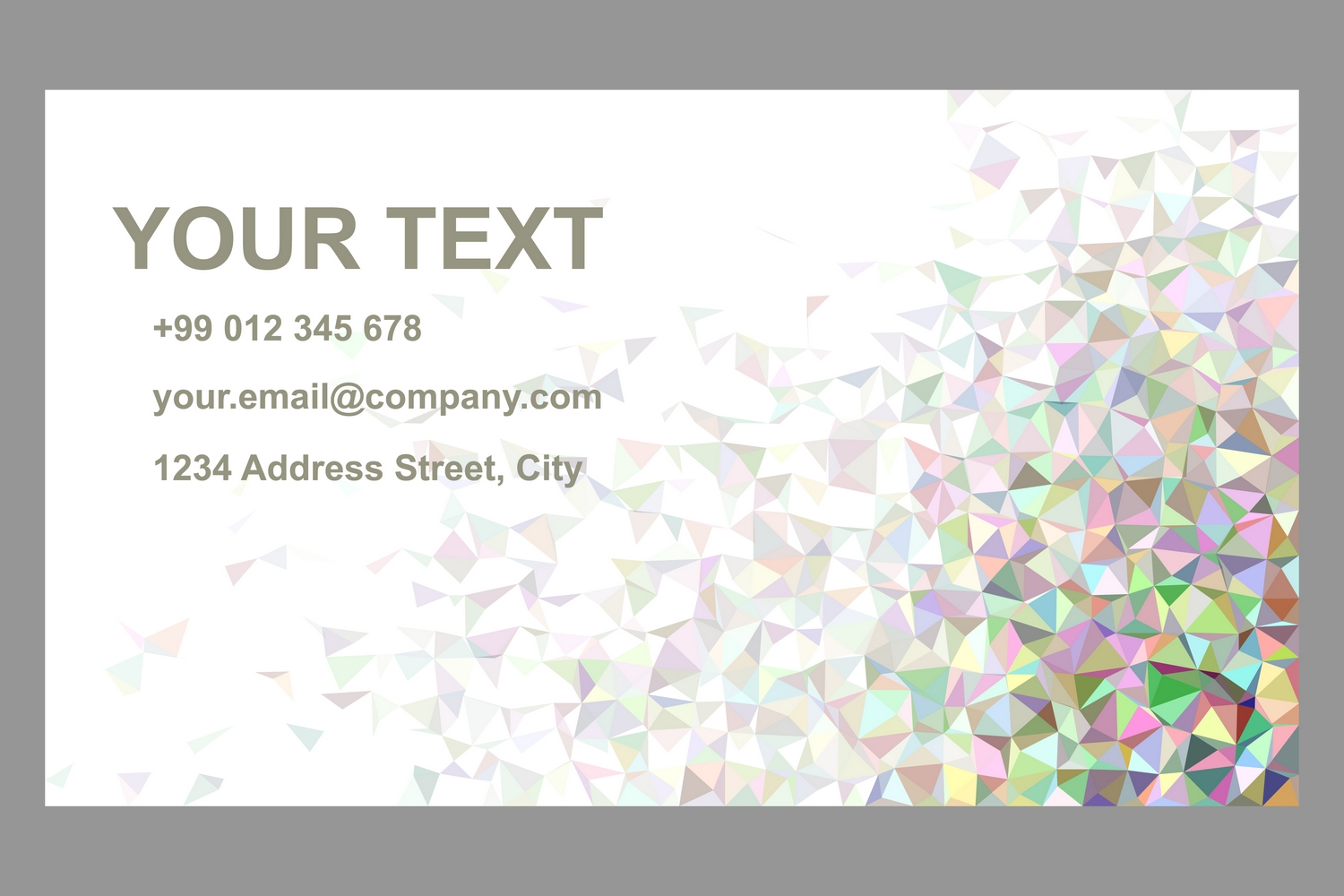50x2 mosaic design business card templates (EPS, AI, JPG 5000x5000) example image 2