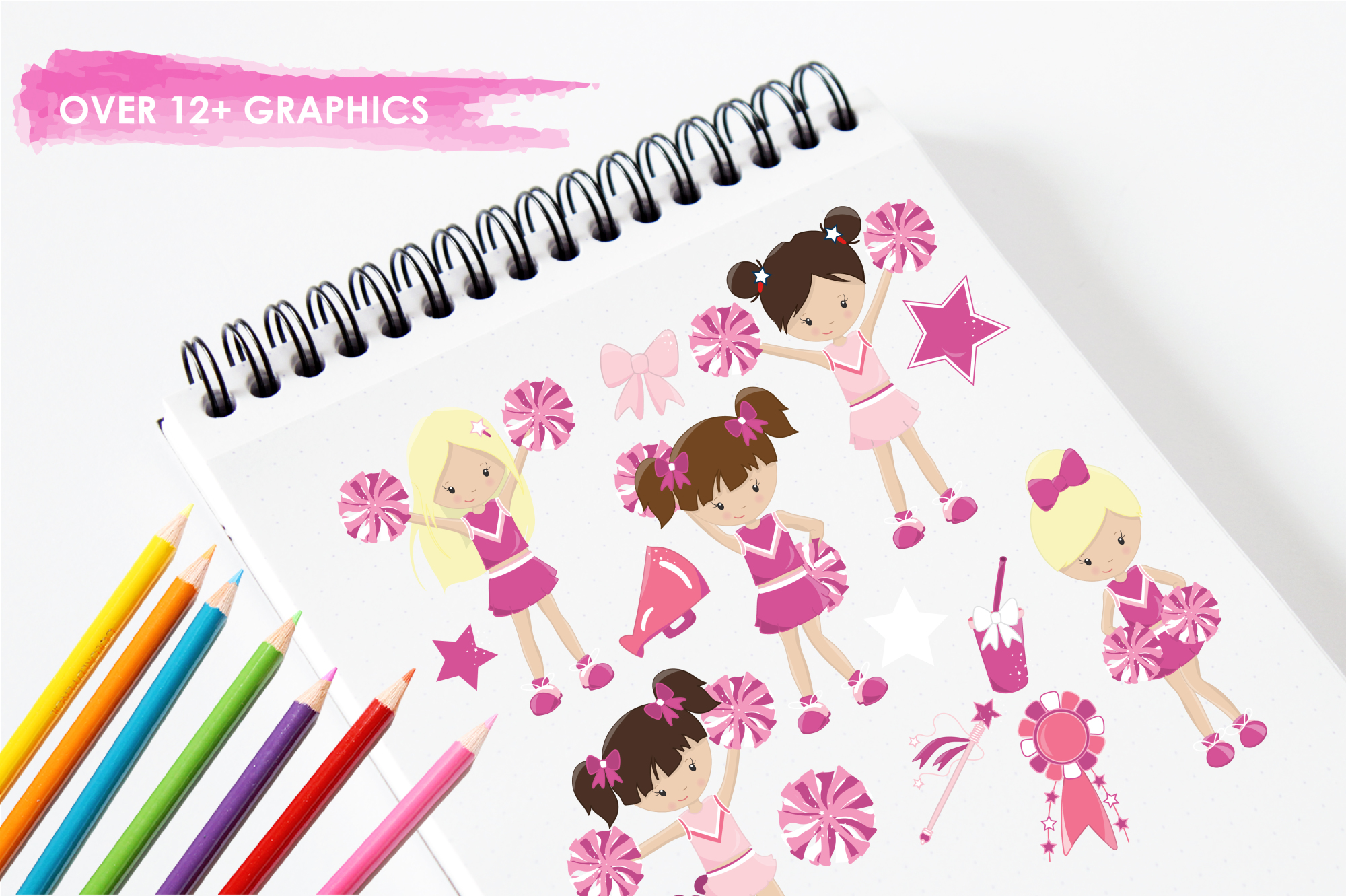 Cheerleaders graphics and illustrations example image 3