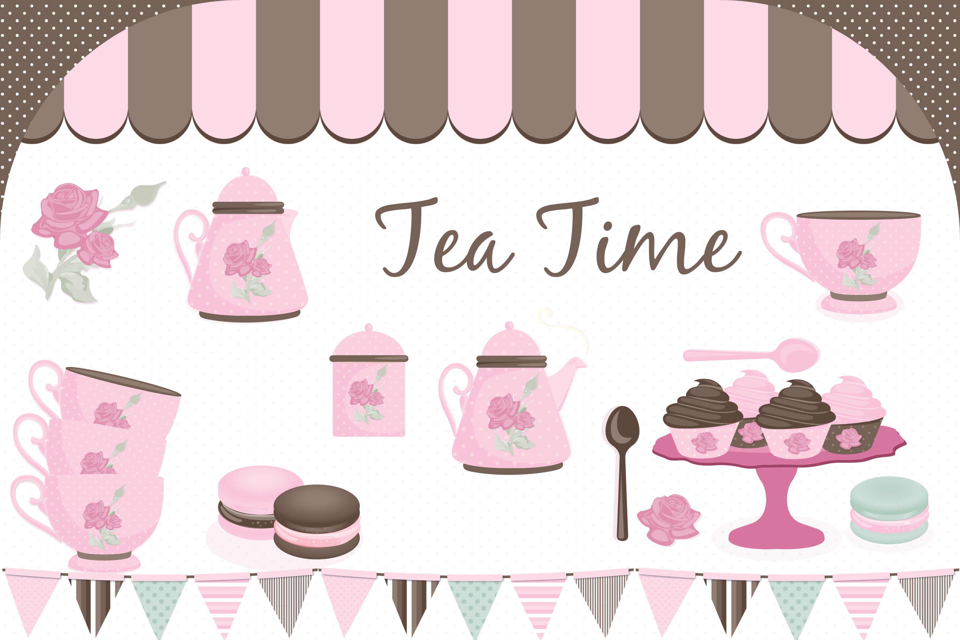 tea party clipart tea party graphics b design bundles rh designbundles net tea party clipart free tea party clip art free downloads