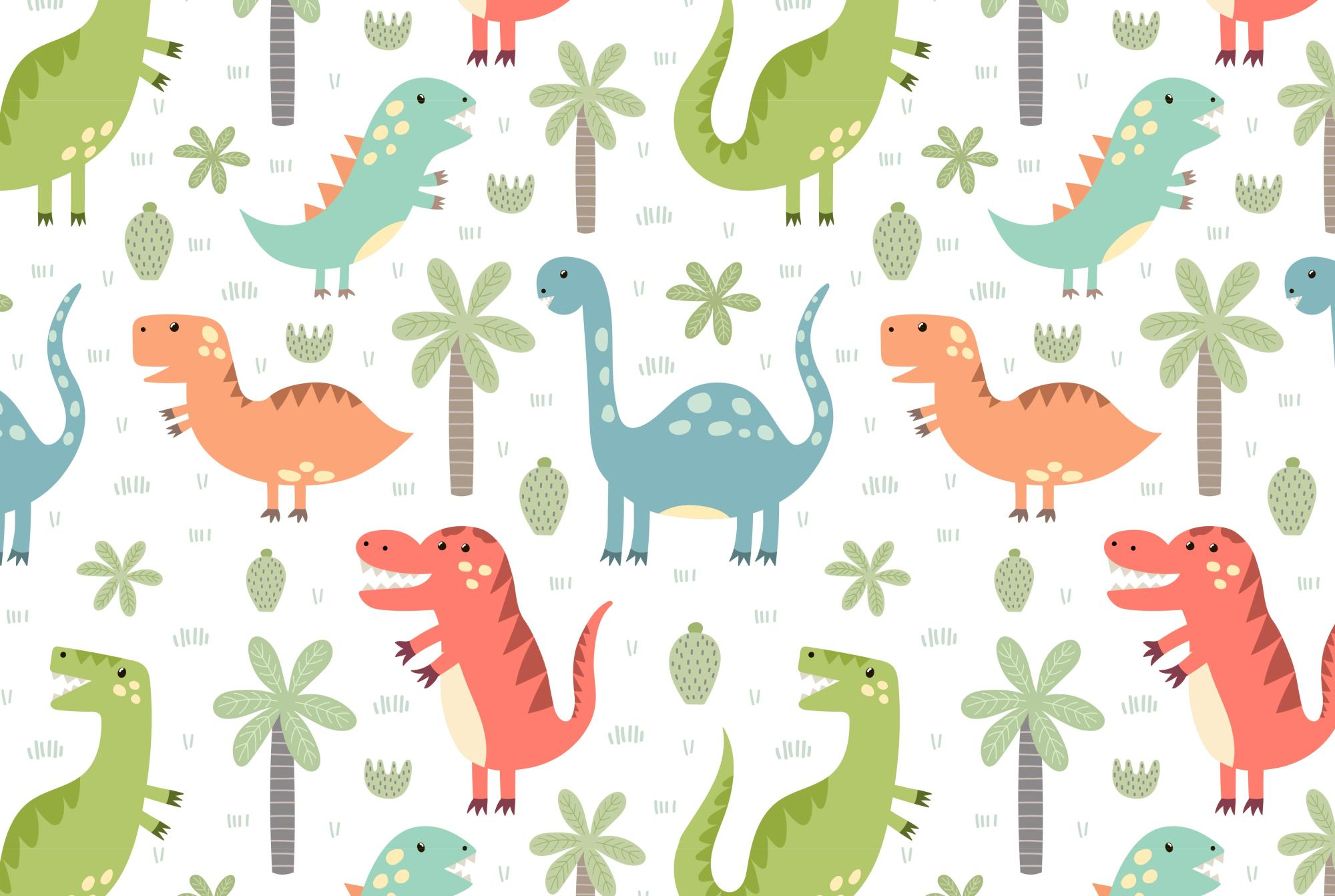 Dino Party: patterns & illusrations example image 2