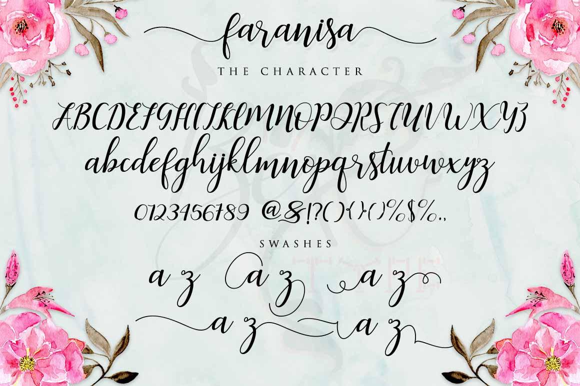 Faranisa Script example image 3