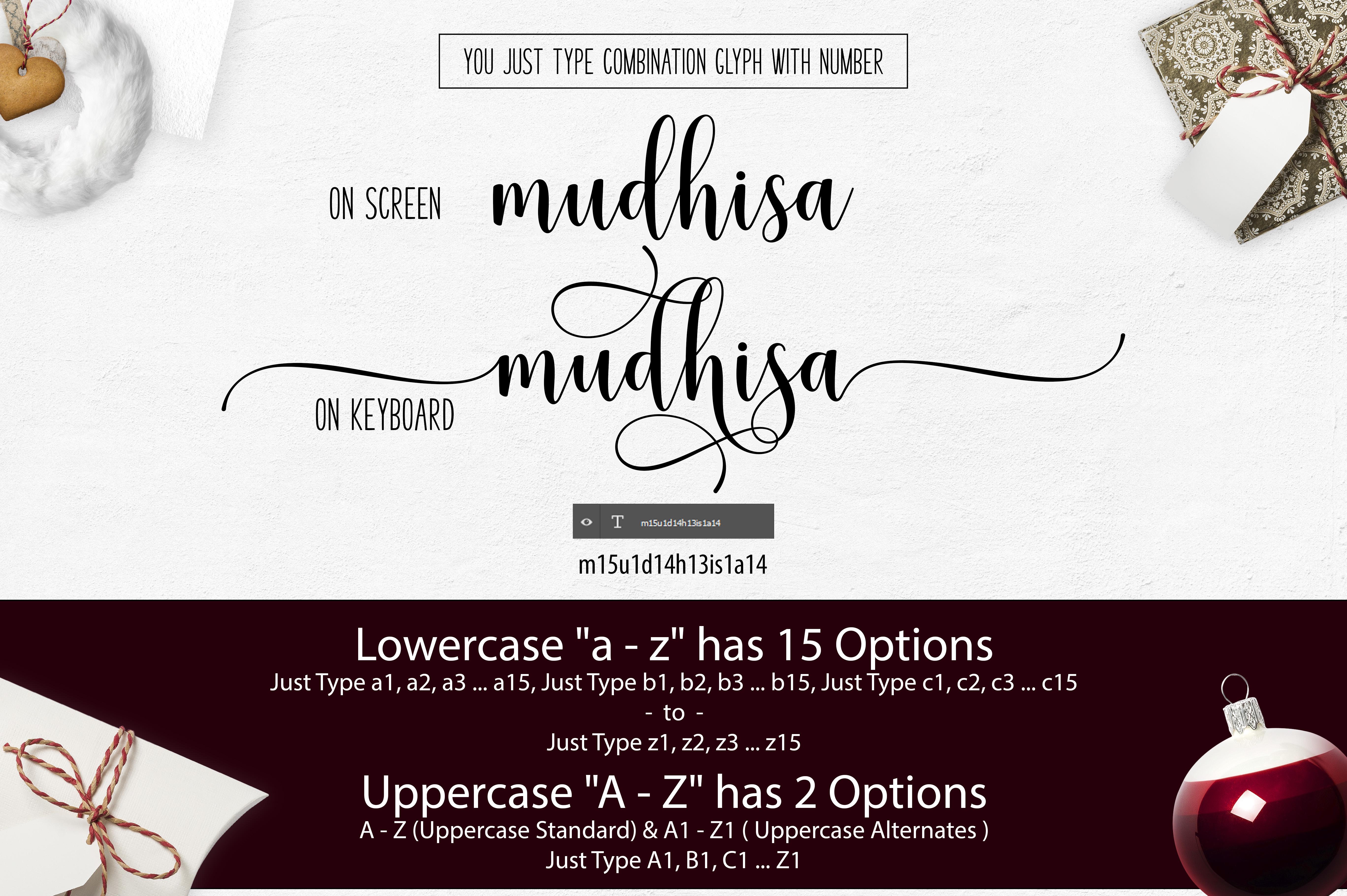 Mudhisa Script Font Trio example image 11