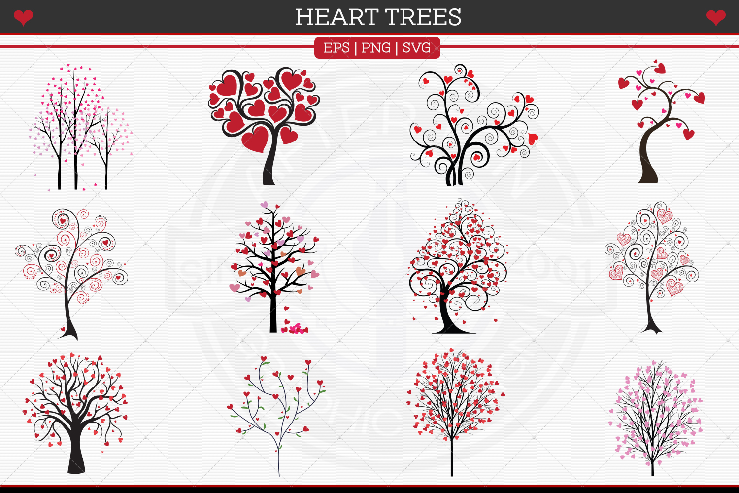 Heart Trees example image 2