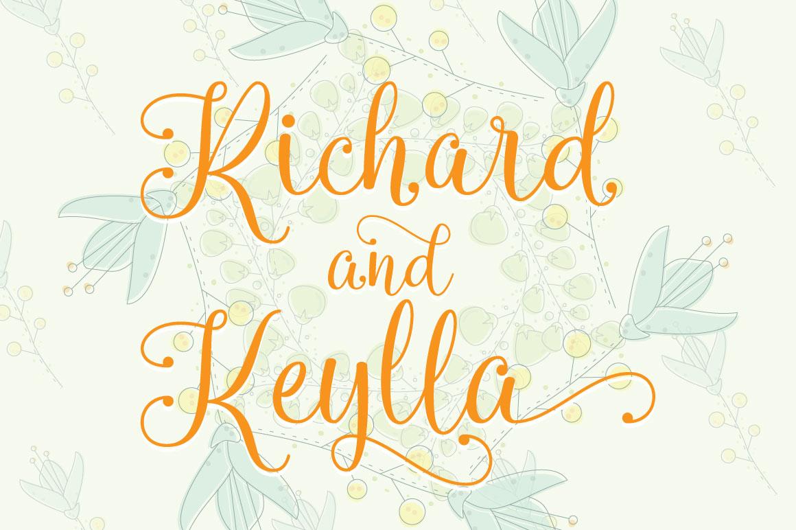 Queensha Typeface example image 2