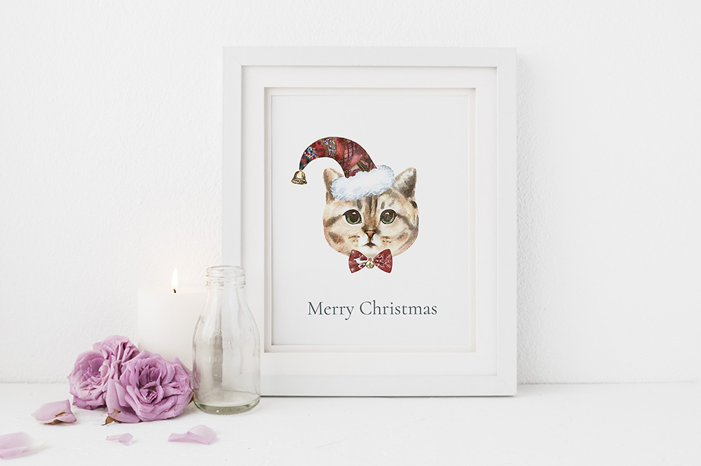 Christmas Animal Creator.Watercolor Dogs & Cats example image 9