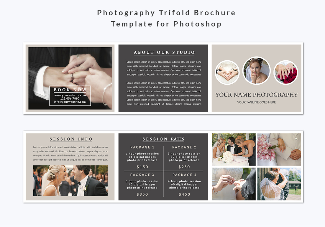 Photography Trifold Brochure Template example image 2