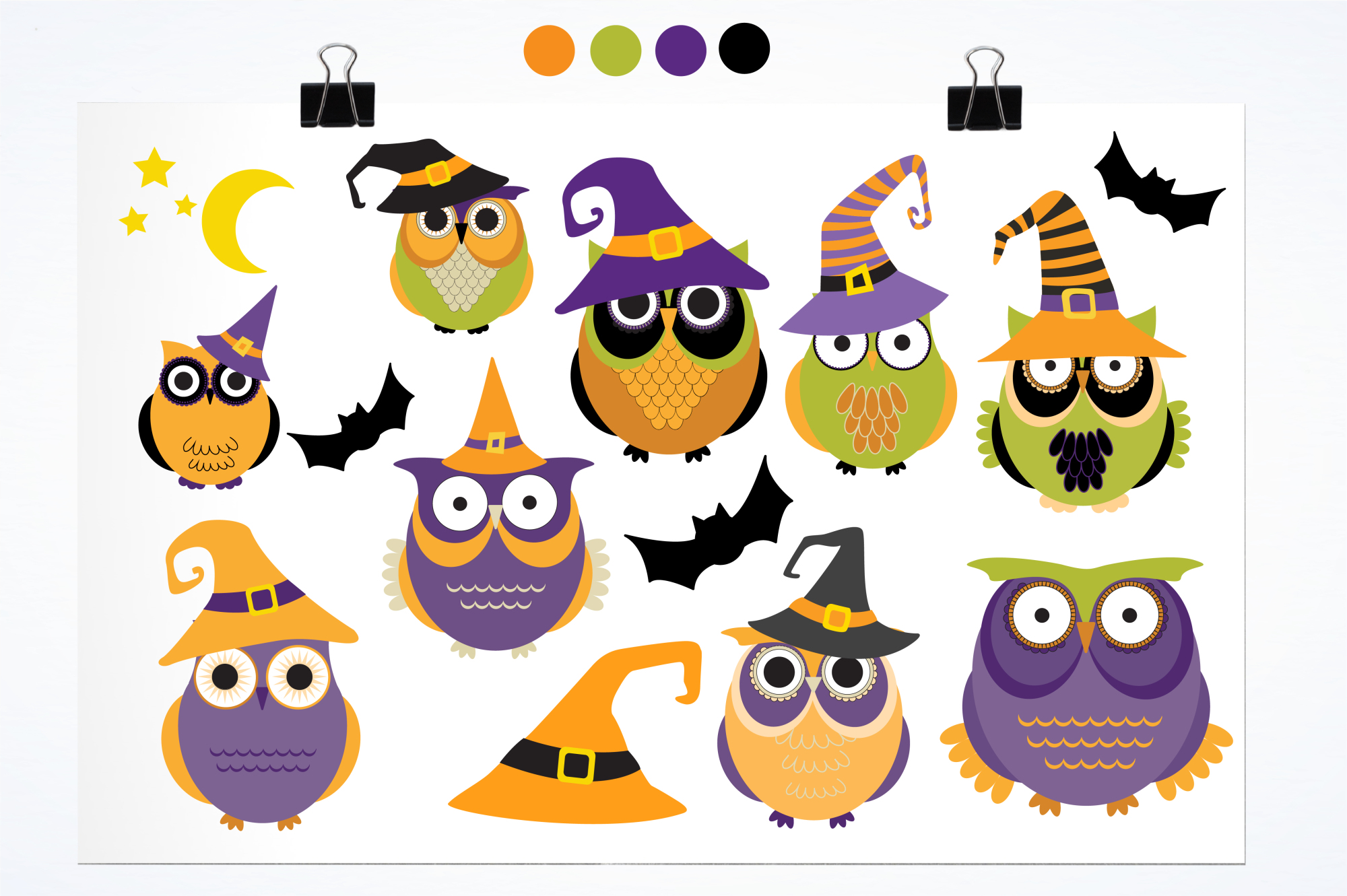 Halloween Owls graphics and illustrations example image 2