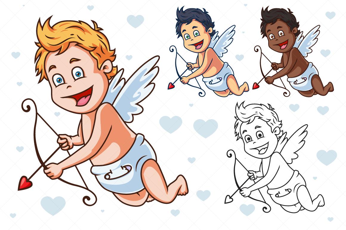 Cartoon Vector Cupid example image 1