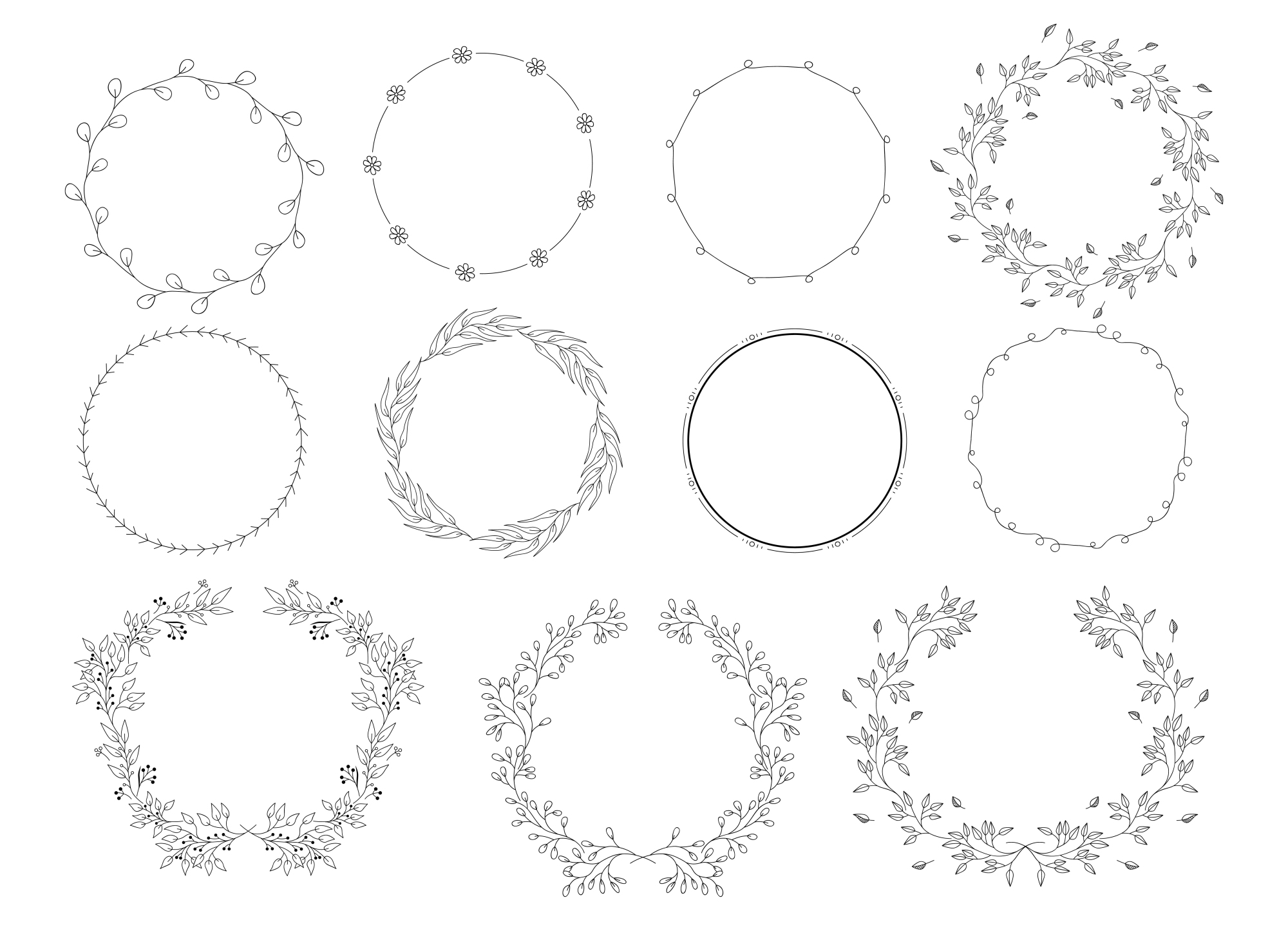 450 handsketched elements. Nature mega pack example image 18