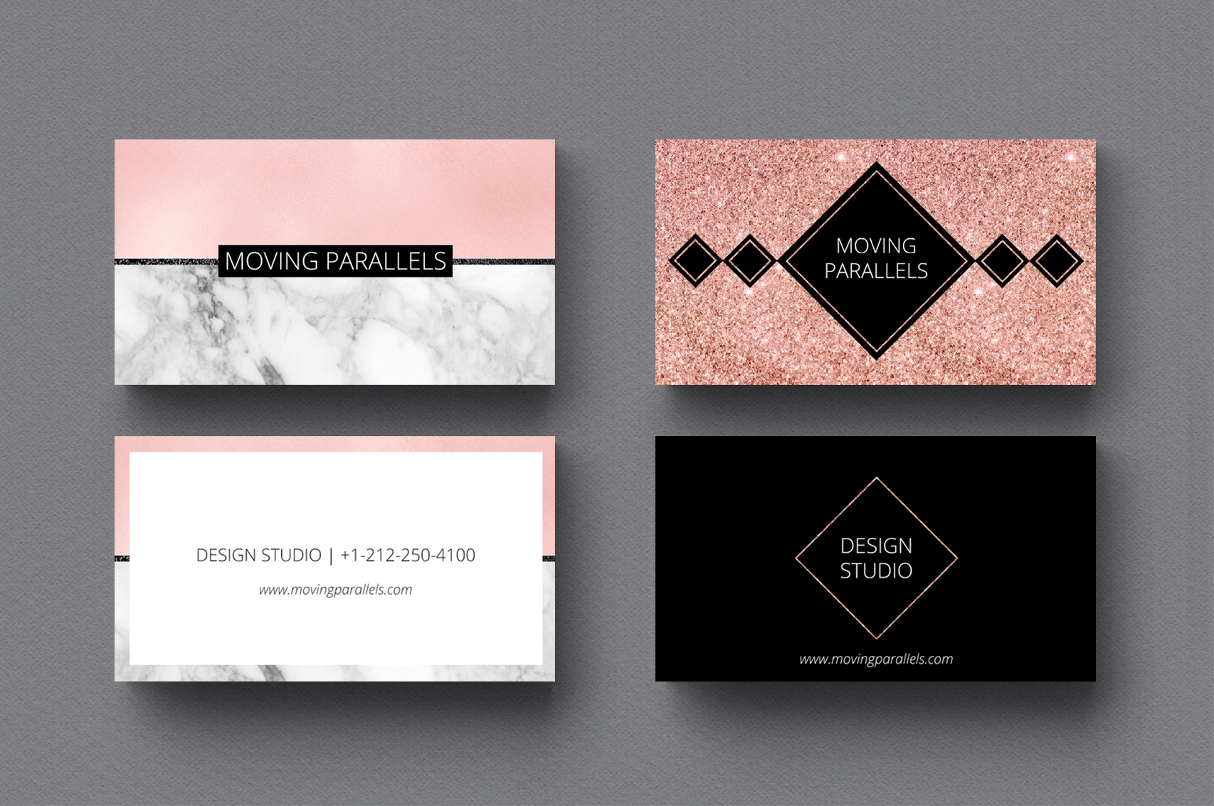 Rose Gold Marble Business Cards Bundle example image 4