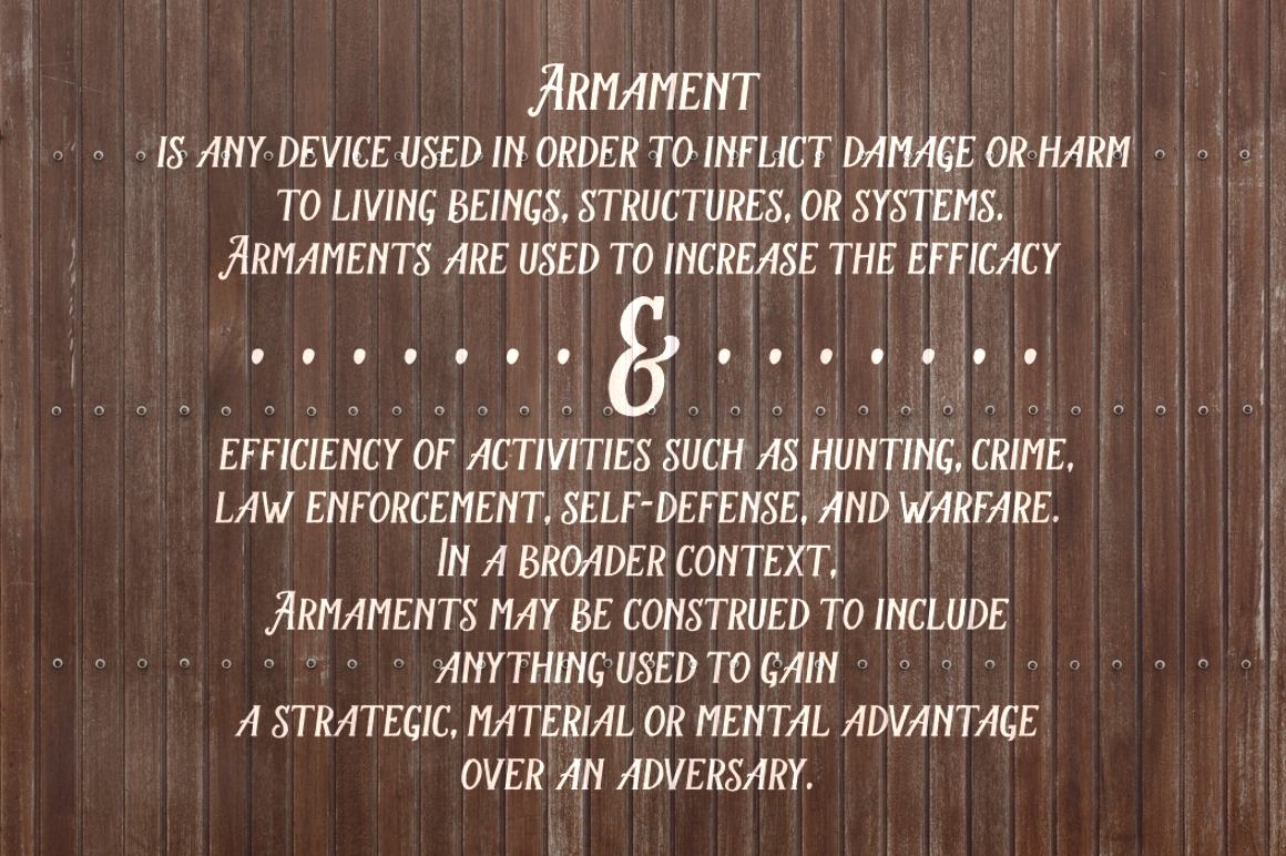 Armament Family example image 5