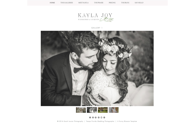 Wix Photography Website Template by Sun | Design Bundles