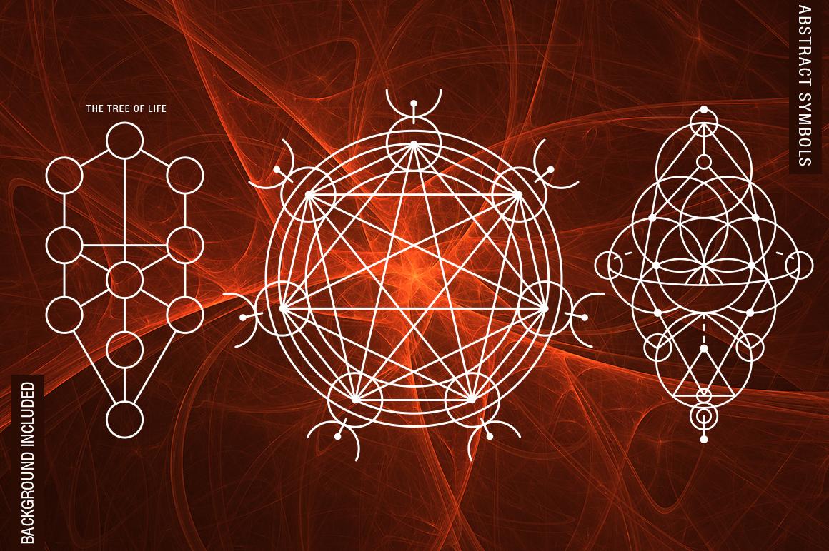 100 Sacred Geometry Symbols  example image 5