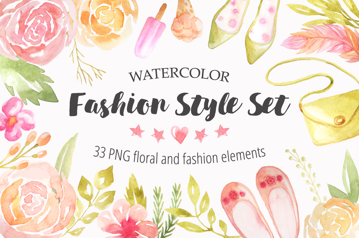 Summer Watercolor Floral BUNDLE example image 4