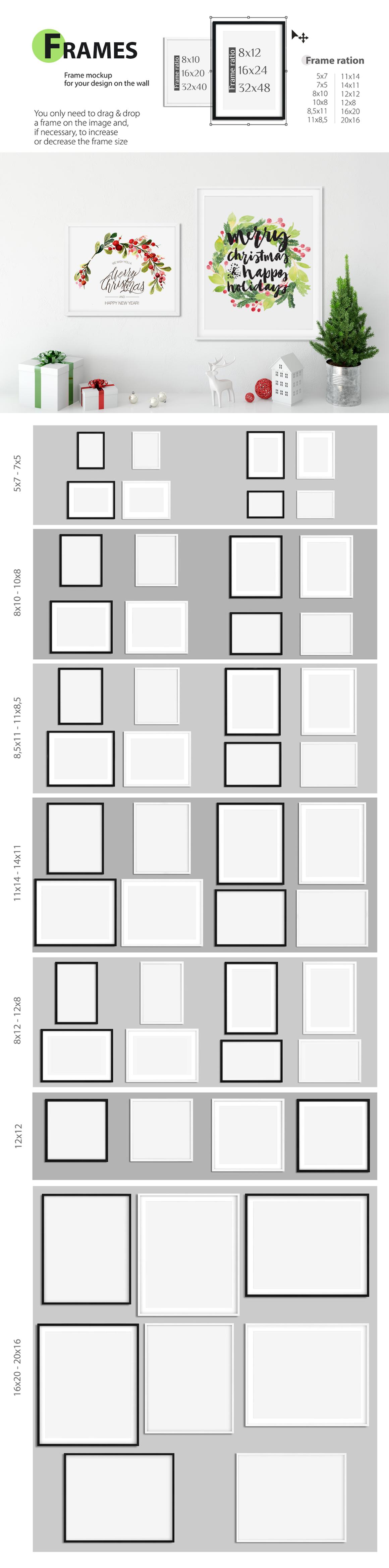 Christmas Frame Mockup Bundle by Yuri-U | Design Bundles