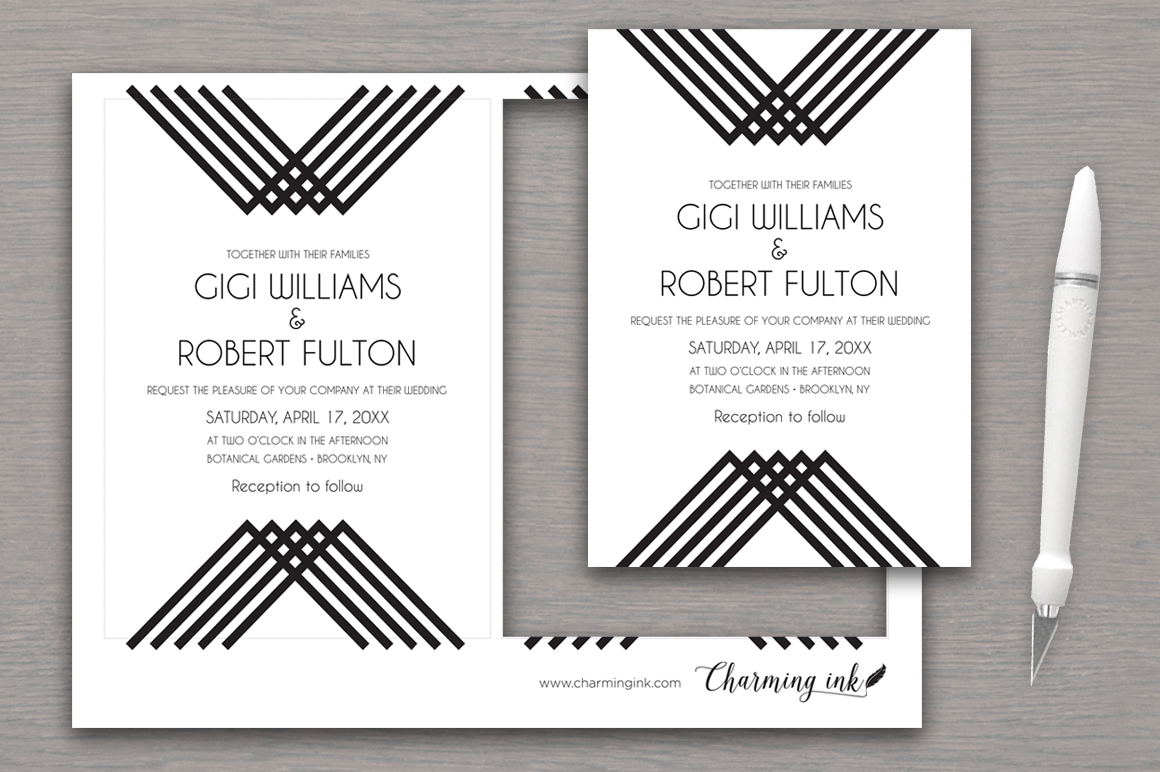 Luxe Stripes Wedding Suite example image 2