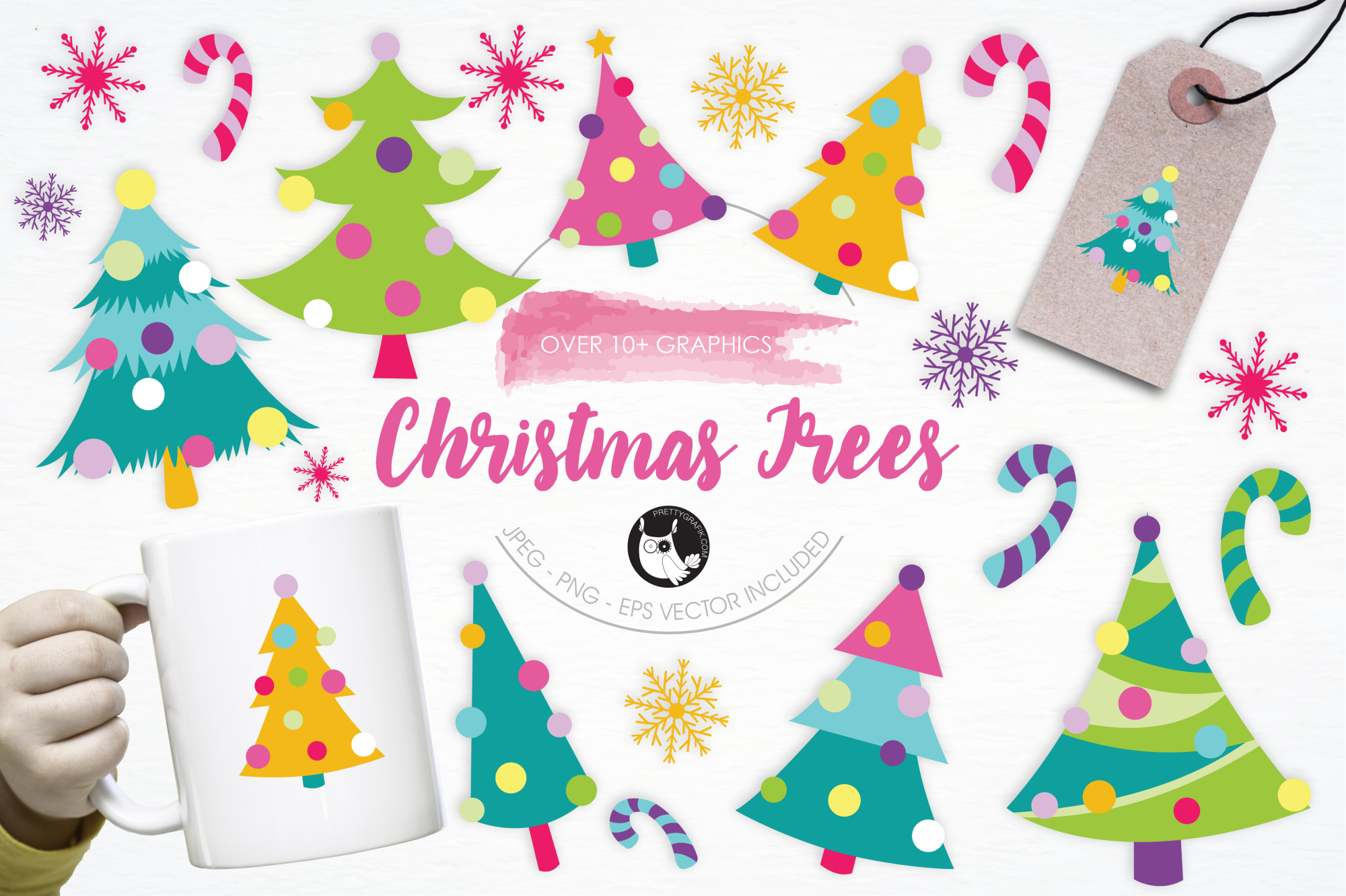 Christmas Trees graphics and illustrations example image 1