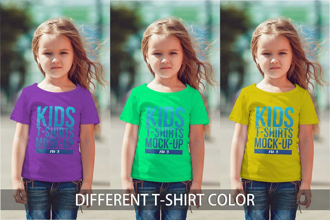 Kids T-Shirt Mock-Up Vol 3 example image 3