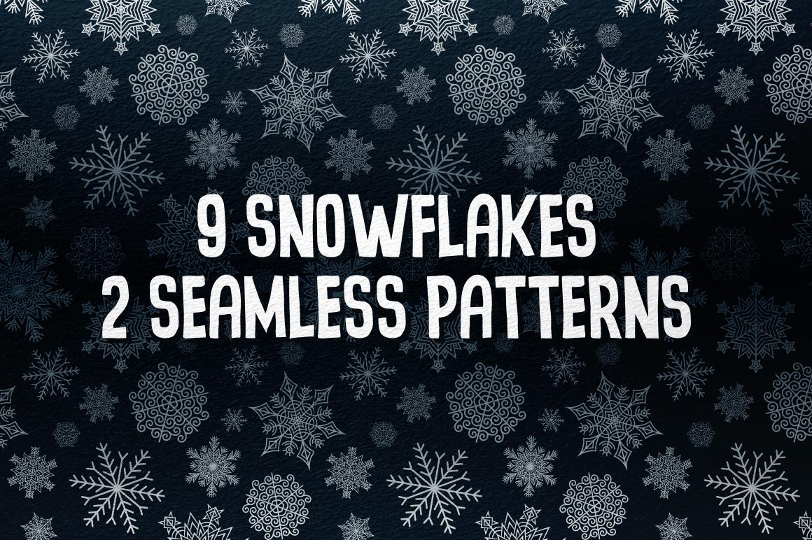9 Snowflakes example image 1