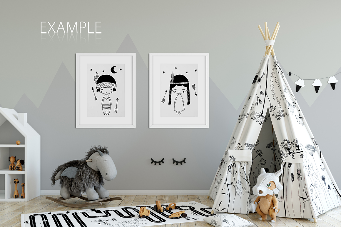 KIDS WALL & FRAMES Mockup Bundle - 2 example image 21