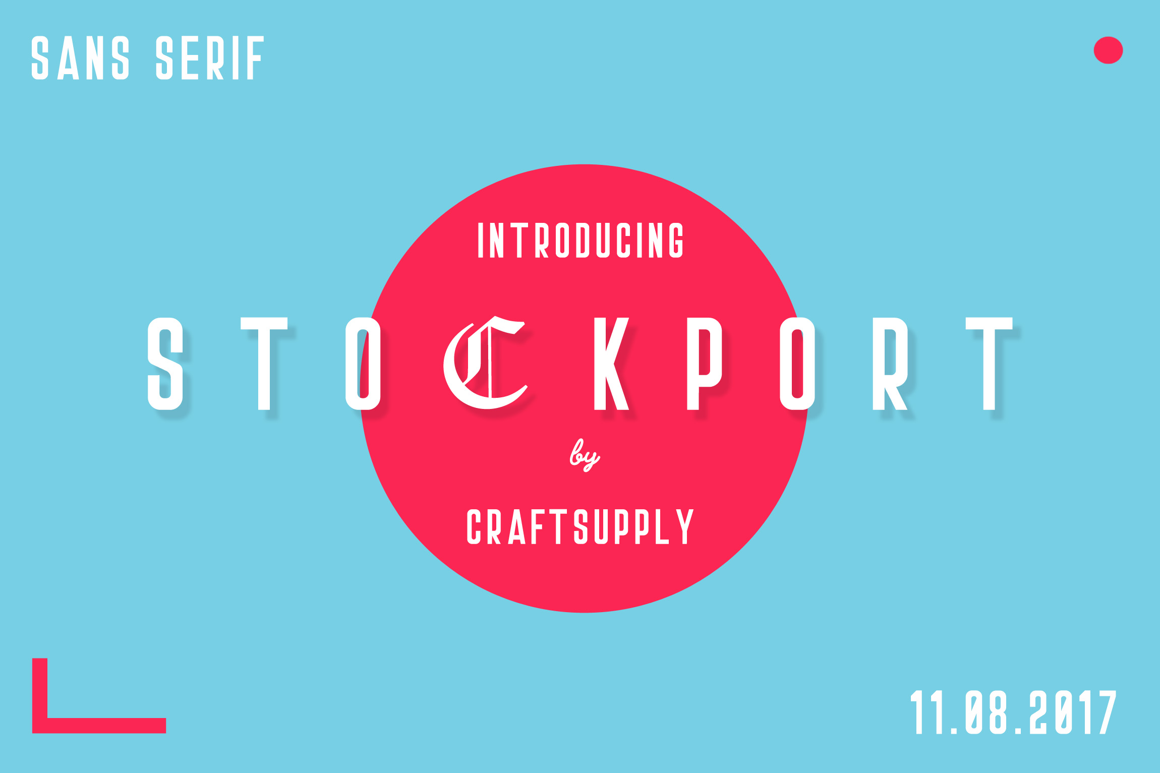 Stockport Font + Bonus Logo example 5