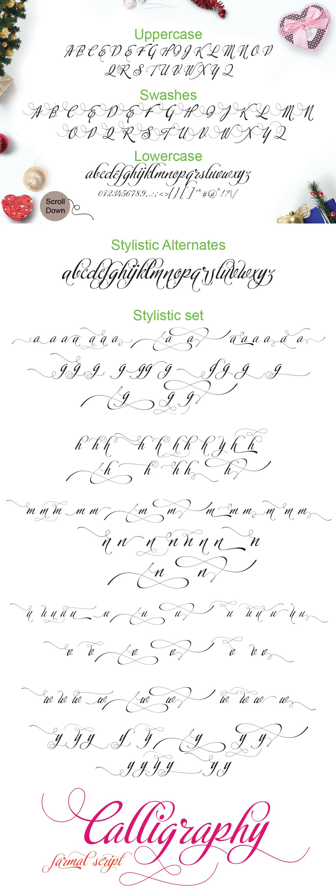 Calligraphy script example image 9
