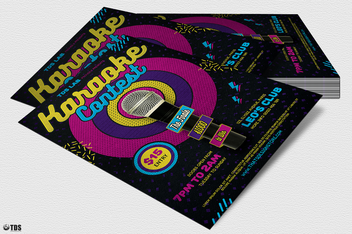 Karaoke Flyer Template V6 example image 4