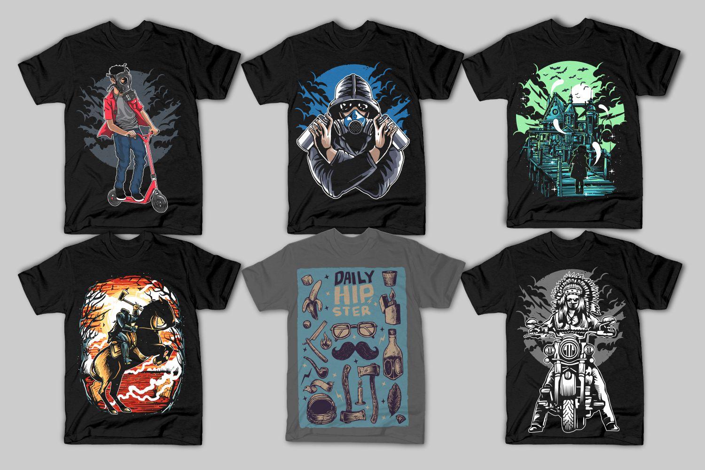 42 Tshirt Designs Bundle example image 4
