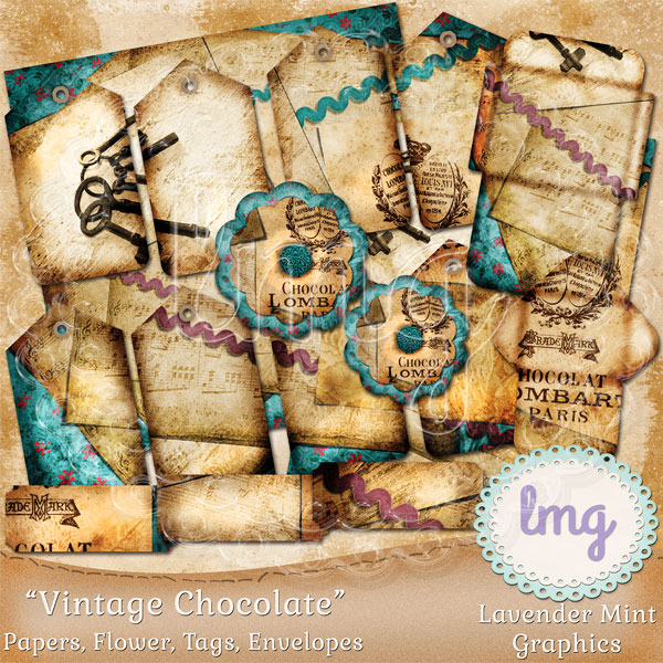 Vintage Chocolate Junk Journal Kit example image 1