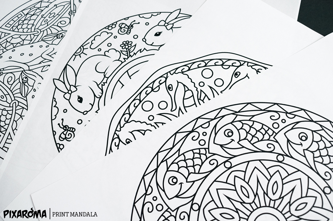 Vector Animals Mandala Set example image 6