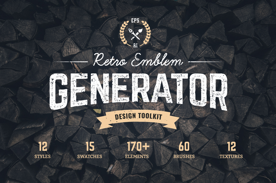 Logo maker retro emblem generator by design bundles logo maker retro emblem generator example image 1 voltagebd Image collections