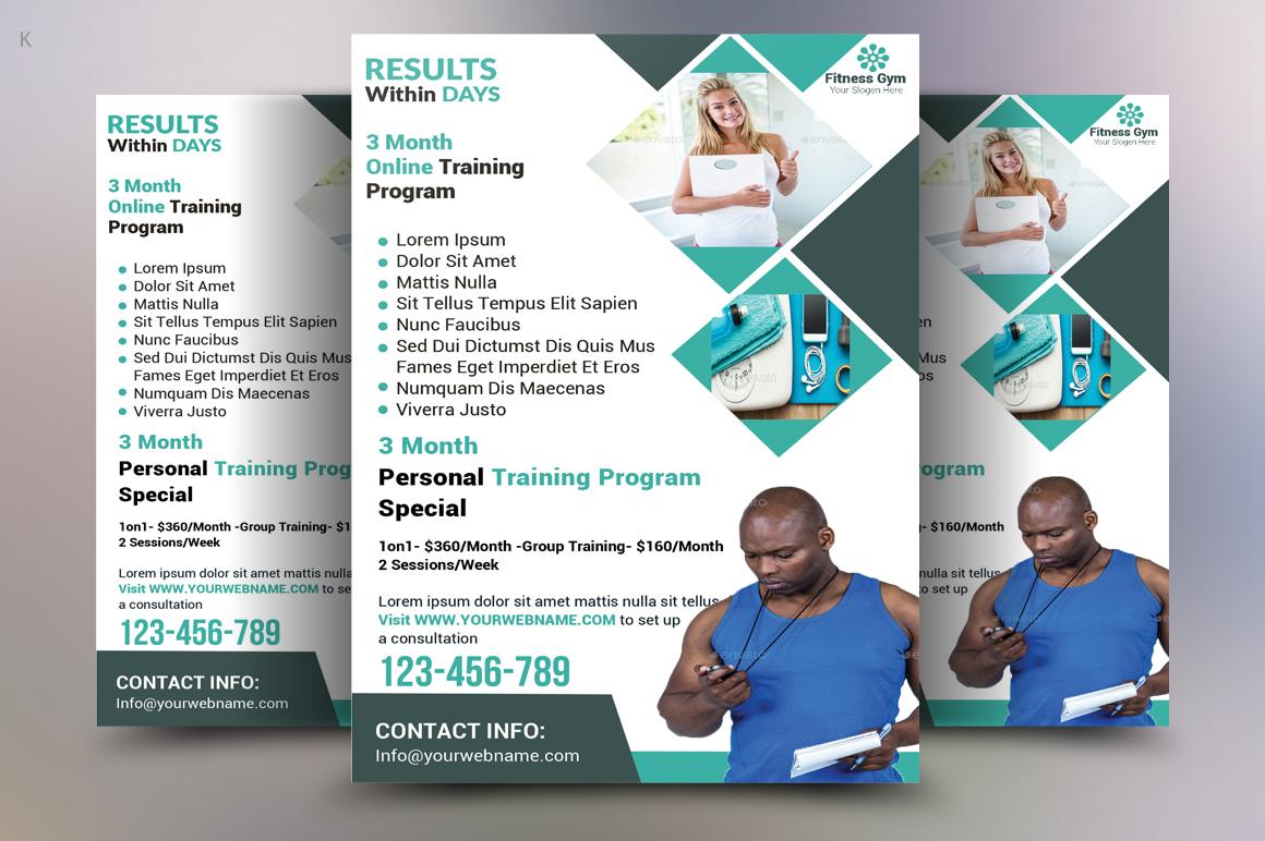 Fitness Flyer Template by Pro Design | Design Bundles