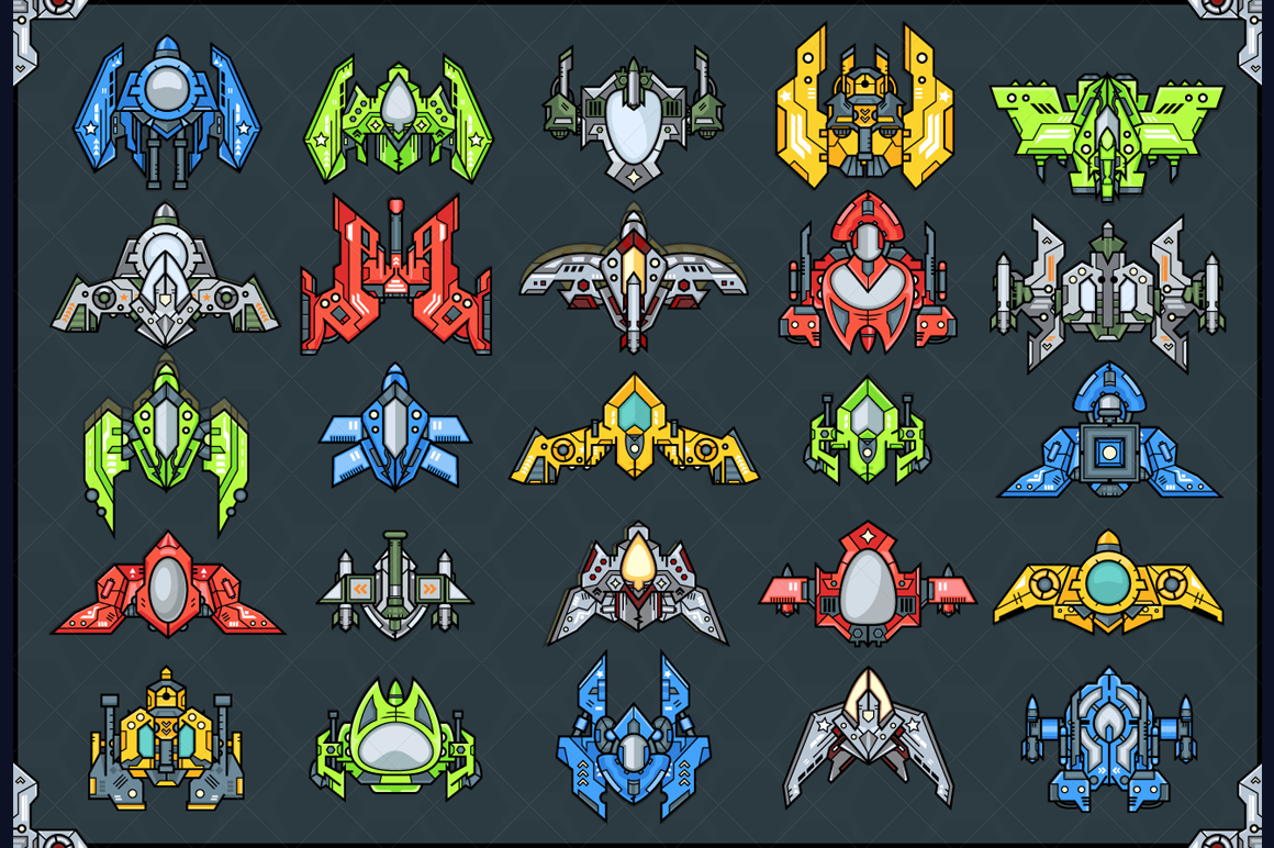 Spaceship Creation Kit - Game Assets example image 2