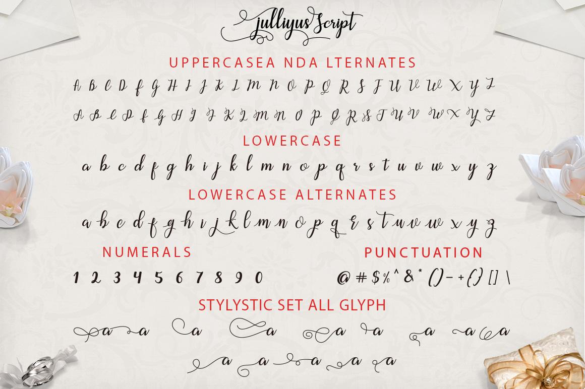 Julliyus Script example image 8