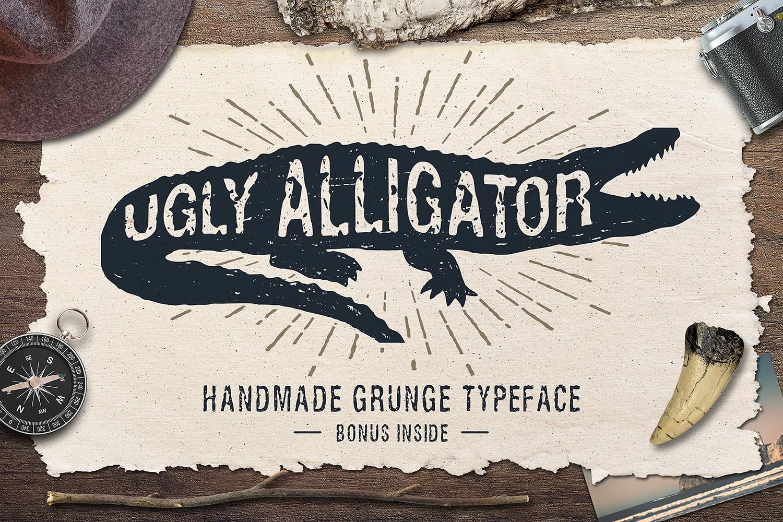 Ugly Alligator - Grunge Typeface example image 1