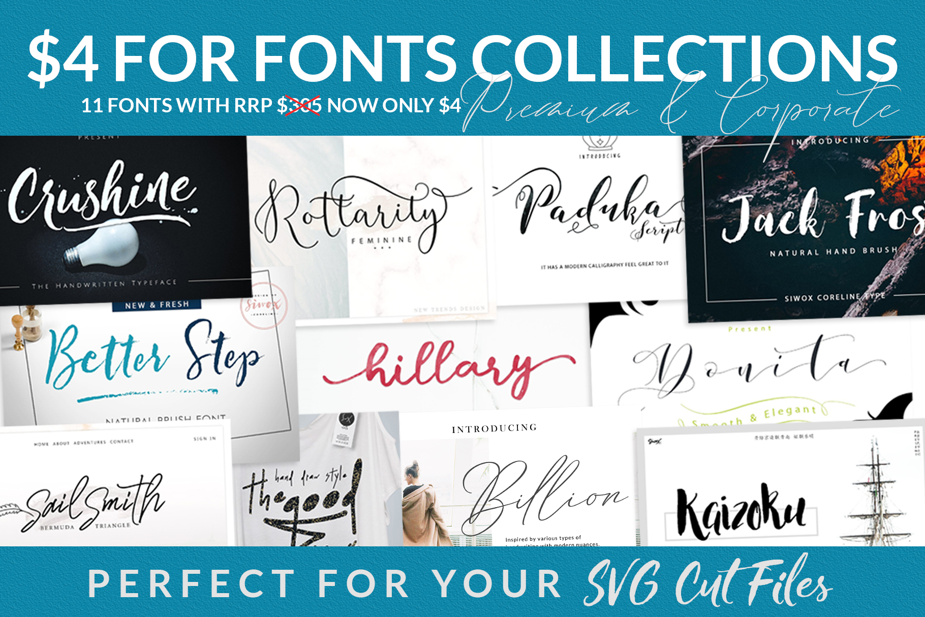 $4 For Fonts Collections (Limited Time) example image 1