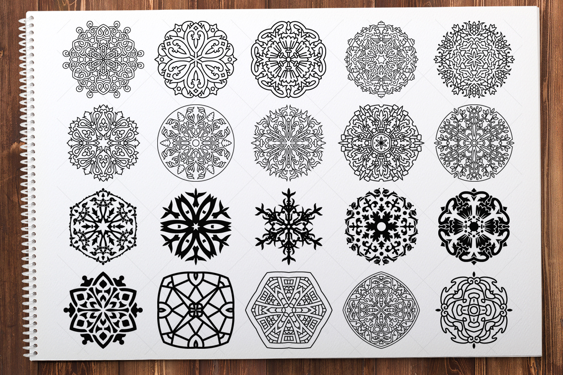 500 Vector Mandala Ornaments example image 11