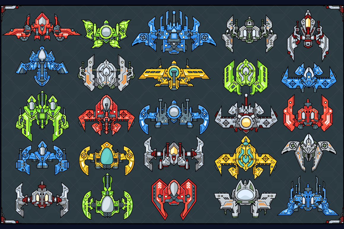 Spaceship Creation Kit - Game Assets example image 3