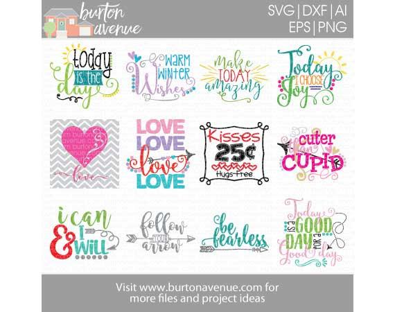 Burton Avenue Mega SVG Bundle for Cricut, Silhouette example image 5