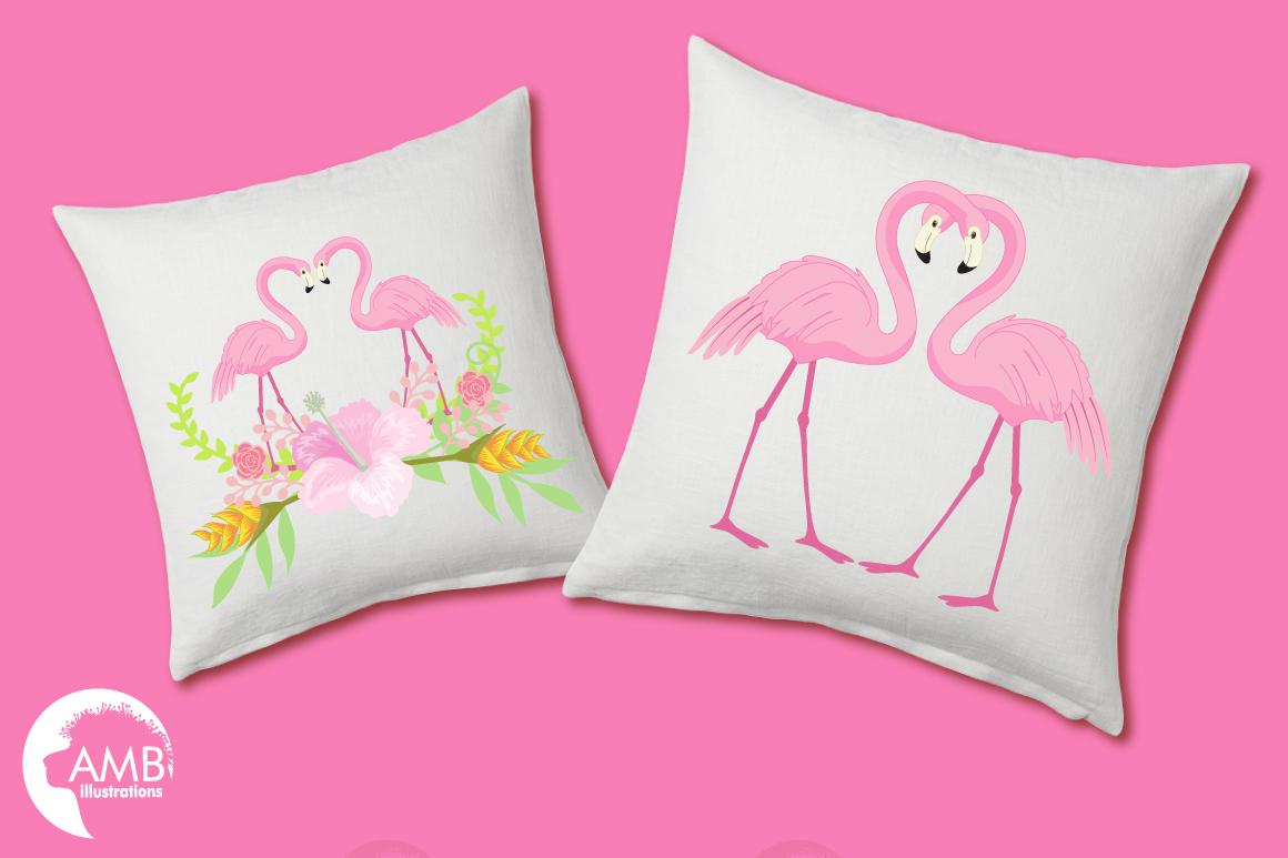 Flamingos clipart mega pack, graphics, illustrations AMB-1047 example image 3