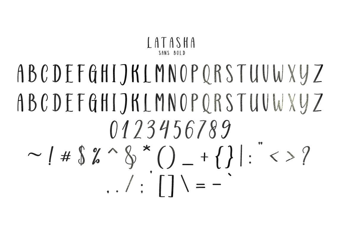 Latasha Font Family - 6 Font example image 17