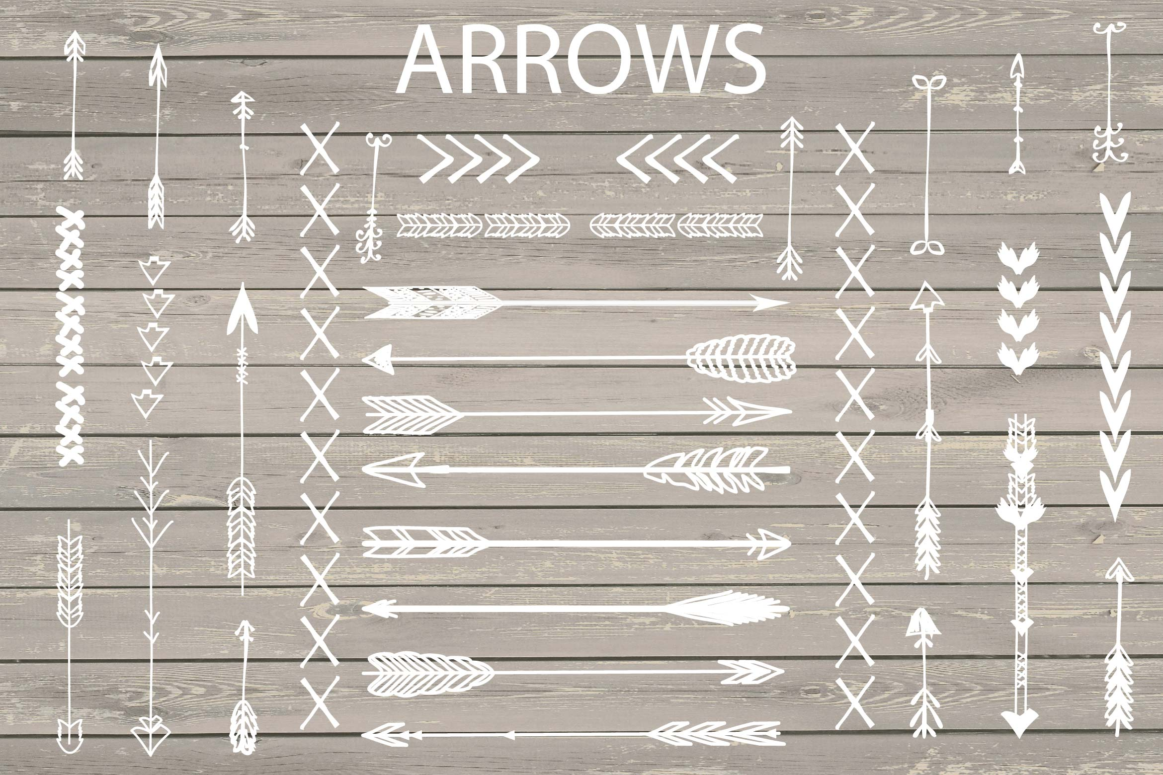 VECTOR Hand Drawn arrows clip arts example image 1
