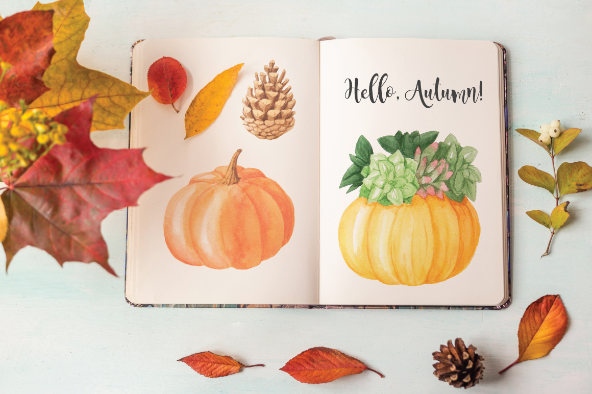The Watercolor Autumn Collection  example image 4