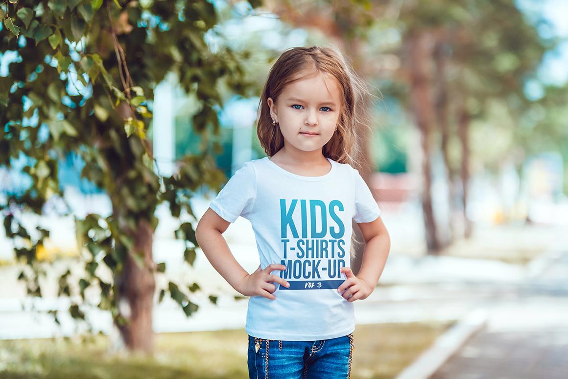 Kids T-Shirt Mock-Up Vol 3 example image 11