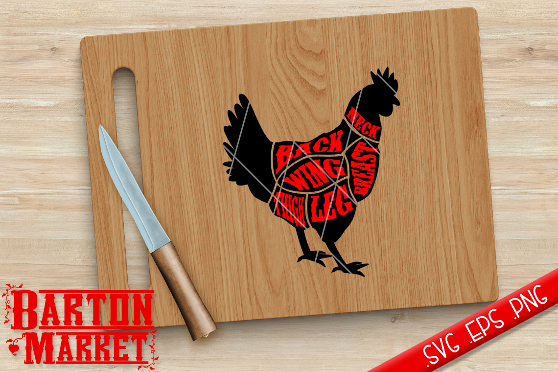 Chicken Butcher SVG / EPS / PNG example image 1