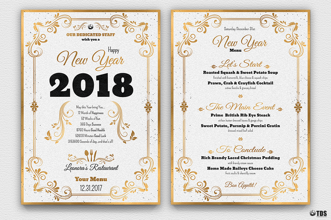 New Year Menu Template V1 example image 5