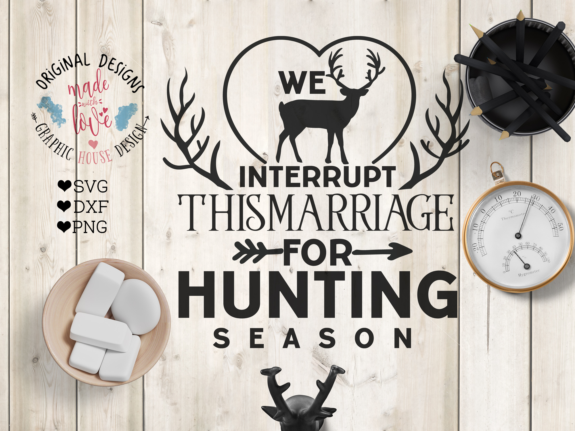 We interrupt the marriage for the hunting Season (SVG, DXF, PNG) example image 1